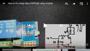 How to fix cheap ebay ESP8266 relay module