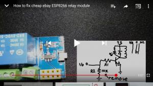 How to fix cheap ebay ESP8266 relay module
